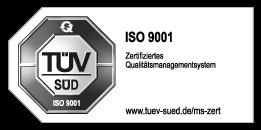 JBW ist ISO 9001-zertifiziert