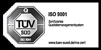 JBW ist zertifiziert nach ISO 9001:2015 vom TÜV Süd